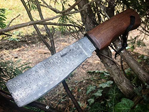 Handgemachtes Damast Jagdmesser - Machete