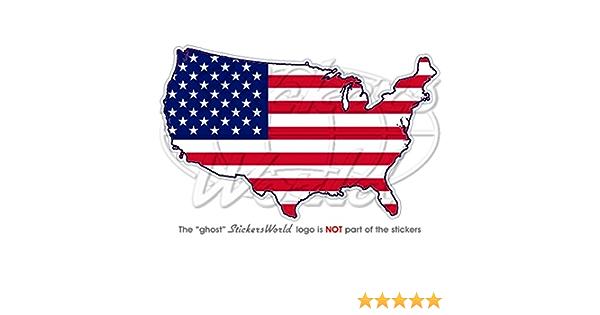 Stickersworld Usa Vereinigte Staaten Von Amerika Vinyl Sticker Landkartenflagge Amerika Aufkleber 120 Mm Garten