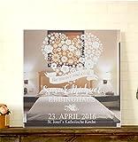 GRAVURZEILE Motivspiegel Hochzeit Immer & ewig mit Gravur Wanddeko & Wanddekoration Spiegel mit Gravur schönes Geschenk zur Hochzeit - Personalisierbar Size 30 x 30 cm