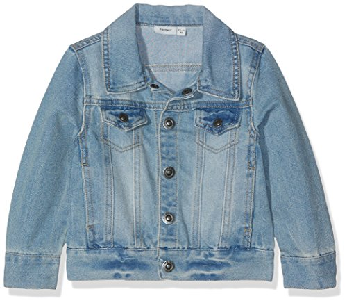 NAME IT Mädchen NITADAN DNM JACKET MZ GER Jacke,,per pack Blau (Light Blue Denim Light Blue Denim),110