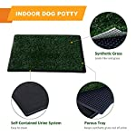 PawHut Indoor Dog Toilet Puppy Cat Pet Training Mat Potty Tray Grass Restroom Portable (51L x 64W x 3T (cm)) 12