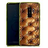 DeinDesign Samsung Galaxy S9 Plus Slim Case transparent neon grün Silikon Hülle Schutzhülle Leder Muster Sofa Leder Couch Look