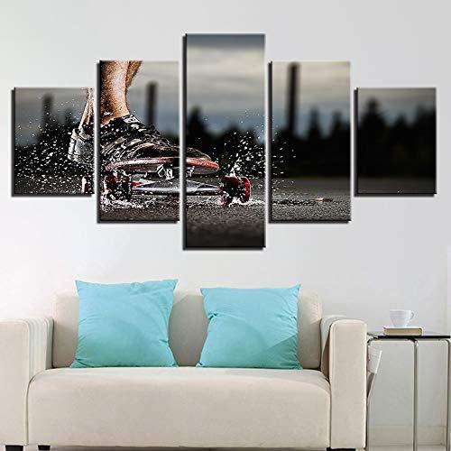 Zaosan 5 hochauflösende Fotos Bilder Wohnzimmer Dekoration extremsport Skateboard malerei Skateboard Poster wandkunst