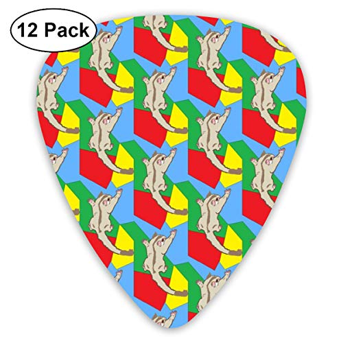 Cremino Sugar Glider On PrimariesAutism Colors_967 Classic Celluloid Picks, 12-Pack, For Electric Guitar, Acoustic Guitar, Mandolin, And Bass - Multi Glider