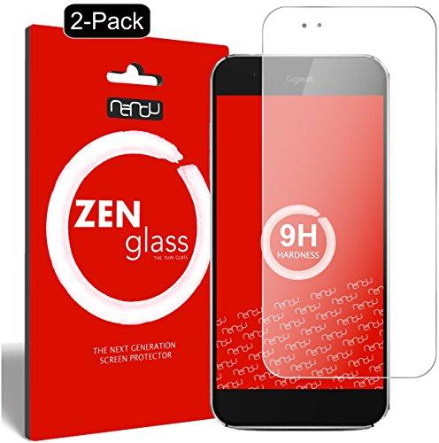 nandu I ZenGlass [2 Stück] Flexible Glas-Folie für Gigaset ME Panzerfolie I Bildschirm-Schutzfolie 9H I (Kleiner Als Das Gewölbte Bildschirm)