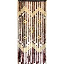 Cortina puerta 42 tiras bambu 90x200 cm