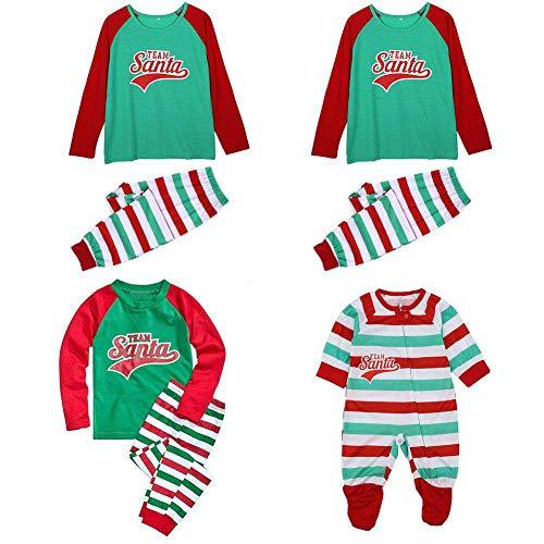 Familie Passende Weihnachten Outfit Santa Team Gestreiften Pyjama Set Neugeborenen Mom Dad Kid Boy Mädchen Kleidung Set