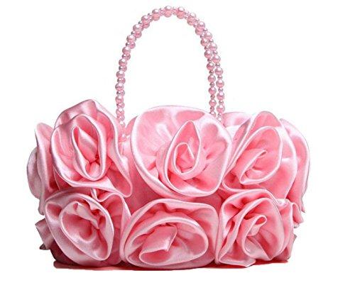 Borsa Delle Signore Di Moda Rose Di Raso Casual Party Pink