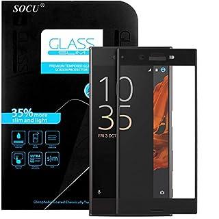 SOCU Schutzfolie für Sony Xperia XZ [3D vollständige Abdeckung], Vollglasfolie Sony Xperia XZ Schutzglas Echtglasfolie Displayschutzfolie Panzerglas (schwarz)