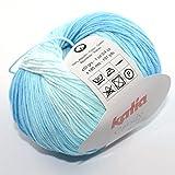 Katia Candy Fb 655 Babywolle Baumwolle Baumwollgarn mit Farbverlauf