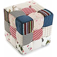 Versa 19500600 - Taburete Cubo Romantic Patchw.