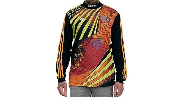 76cdc5ec0 adidas Na-kel Smith Jersey - Black Yellow Bright Orange Red  Amazon.co.uk   Clothing