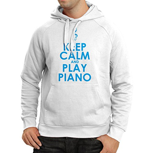 Kapuzenpullover Klavier - Musiker zitiert (Medium Weiß (Das Outfits Deutschen Oktoberfest Die Für)