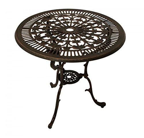 Gartentisch Terrassentisch Tisch Metalltisch Aluminiumguss bronze Jugendstil