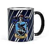 Elbenwald Harry Potter - Taza de la casa Ravenclaw de Hogwarts - Escudo del águila - Apta para lavavajillas - 300 ml de Capacidad - cerámica