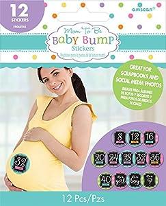 Amscan-380069niña bebé ducha bebé Bump pegatinas