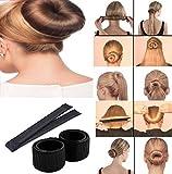 #9: Hair Styling Donut Bun Maker Former Foam French Twist Magic Tool for Women & Girls (Brown)