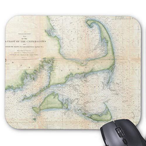 Vintage Map of Cape Cod (1857) Mouse Pad 18×22 cm