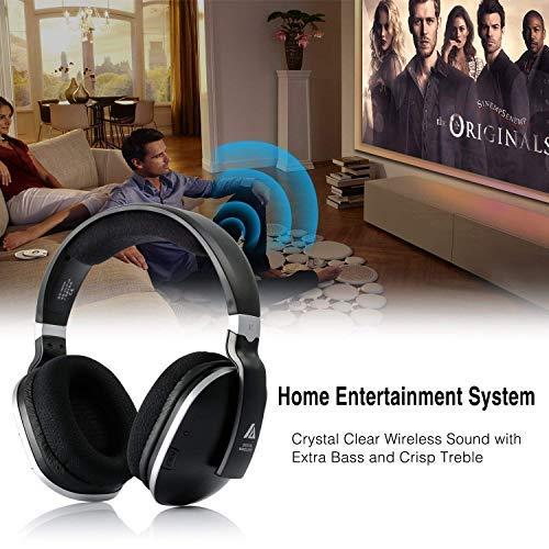 Digitales Funkkopfhörer 2.4GHz Übertragungsfrequenz Over Ear Kabellose Kopfhörer mit Ladestation Lautstärkeregler Geräuschunterdrückung Stereo Kopfhörer für Fernseher, HiFi, CD, DVD Spieler - 5