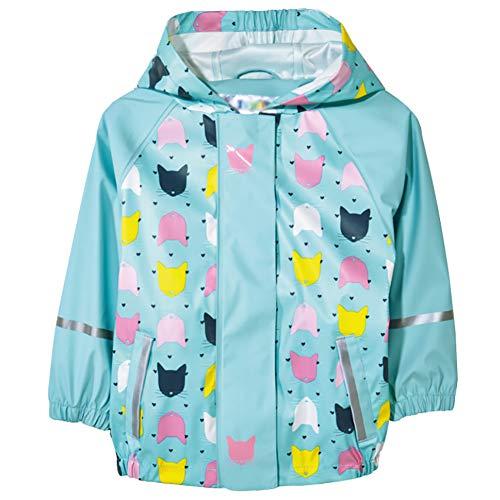 AIWUHE Kinder Mädchen wasserdichte Regenjacke Regenmantel mit Kapuze Trenchcoat Winddicht Outdoorjacke Camping Wandern (Trenchcoat Regen Jacke)