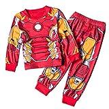CDREAM Iron Man Schlafanzüge Kinder Lange Ärmel Jungen Pajama Sets Baumwolle Nachtwäsche 2-8 Ans,IronMan-120(5T)