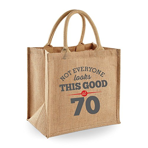 70th Birthday Keepsake Funny Gift Gifts For Women Novelty Ladies Female Looking Good Shopping Bag Present