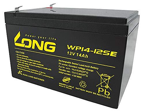 Kung Long Akku 12V 14Ah Pb Batterie Bleigel WP14-12SE ELEKTROFAHRRAD GOLFCADDY Scooter Elektromobil ZYKLENTYP Akkuman.de Set 12v 14ah Batterie