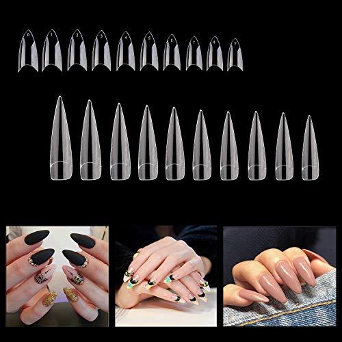 Noverlife Nagelspitzen für Nagelstudios, verschiedene Größen, 100 Stück