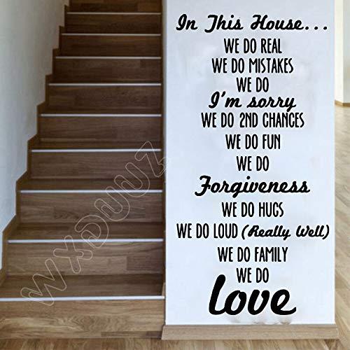 haochenli188 Liebe Wohnzimmer Familienregeln Wandaufkleber Vinyl Aufkleber Raum Grafik Transfer Home Art Decor kinderzimmer Abziehbilder Poster 70x35 cm -