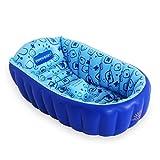 Zheng Hui Shop Aufblasbarer Badewannen-Eimer PVC der Baby-aufblasbaren Badewannen-Falte verdicken das Sitzen, das Bade-Pool, Fuß-Pumpe liegt (Size : 90cm/35.4inch)