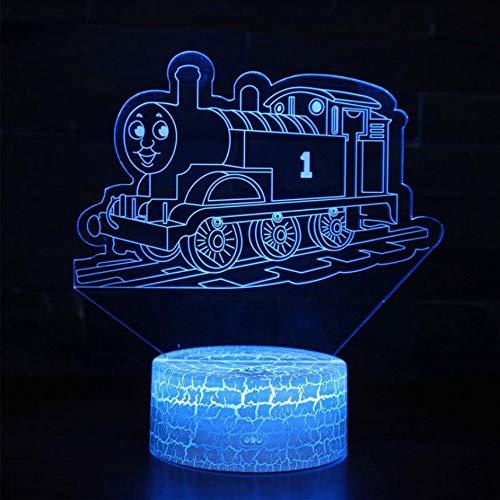 Bus 3d Lampenschirme Für Tabelle Weiße basis Schöne 7 farbwechsel 3D Beleuchtung Weiß Schminktische Schreibtischlampen