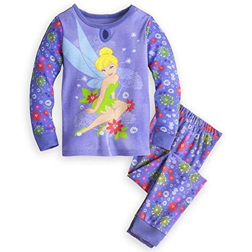 Shop Prinzessin Tinker Bell Girl 2 PC Langarm Eng anliegend Pyjama Set Gr??e 6 (Prinzessinnen Langarm-pyjamas Disney)