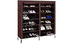 Anva Multi-Function 6 Layer 12 Grid Shoes Rack Wardrobe(Color - According To Stock Availablity)