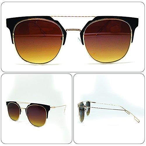 see vision Sonnenbrille Sunglasses Herren Damen Unisex Clubmaster Gold Art. A642017
