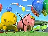 Dino macht eine Ballonfahrt/Dino und Dina machen einen Wettbewerb
