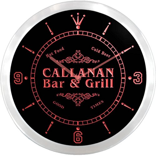 ncu06600-r-callanan-family-name-bar-grill-cold-beer-neon-sign-led-wall-clock