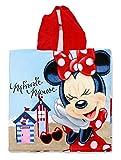 Setino MIN-H-PONCHO-26 Disney Minnie Mouse de Bain pour Enfant avec Capuche 55 x 80 cm