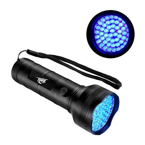 HiHiLL UV Linterna Portátil, 395nm UV, 51 LED Bulbs de Ultravioleta, 3 Pilas AA Incorporadas, Adecuada para Detectar Manchas (LT-BL5, Negro)