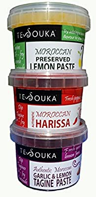 Ultimate Tagine Kit / sauces set: Tagine Paste, Harissa, Preserved Lemon