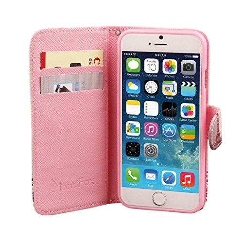 Tonsee® pour iPhone 6 Plus Magnifique modèle Flip cuir Stand portefeuille Case Housse Etui B
