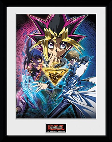 1art1 106804 Yu-Gi-Oh! - Dsod Key Art Gerahmtes Poster Für Fans Und Sammler 40 x 30 cm