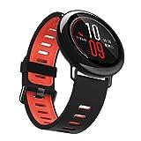HCFKJ Sostituzione Sport Cinturino In Silicone Per Xiaomi HUAMI AMAZFIT Orologio Intelligente (Rosso)