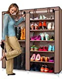 #4: Sterling Shoe Rack and and Boot Rack DIY Organiser with Non Woven Dust Proof Cover - Multi Color