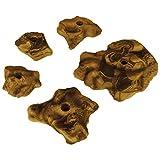 5 Klettergriffe Magic Stone Größe M bis XL - Griffe wie Fels, Farbe:gelb-meliert