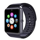 """viwel GT08 Montre Bluetooth 1.54"""" avec Camera, Sim with Camera SIM & emplacement carte SD Podometre Ecran LCD Tactile Montre Connectée pour Smartphones Android (Noir)"""