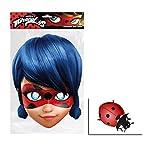 Ladybug von Miraculous Single Karte Partei Gesichtsmasken (Maske) Enthält 6X4 (15X10Cm) starfoto