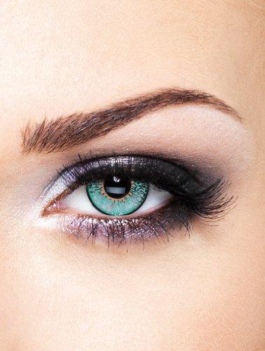 Edit farbige Aqua Kontaktlinsen 3 farbig ohne Stärke (Farbige Eye Blue Kontakte)