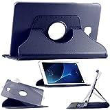ebestStar - pour Samsung Galaxy Tab A 2016 10.1 T580 T585 (A6) - Housse Coque Etui PU cuir Support rotatif 360°, Couleur Bleu Foncé [Dimensions PRECISES de votre appareil : 254,2 x 155,3 x 8,2 mm, écran 10.1'']