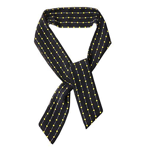 Sweet Deluxe Krawatte, DKL.blau/gelb I Schmuckset für Damen I Modeschmuck Set für Frauen I modisches Design Accessoires Set