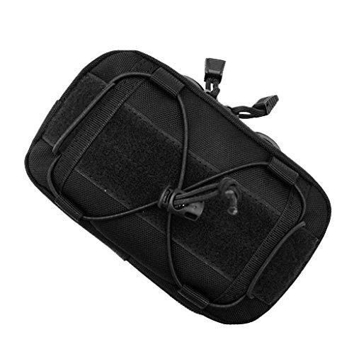 Gazechimp Taktische Molle Tasche Gürteltasche Hüfttasche Rucksack Zusatztasche Handy Werkzeug Beutel Outdoor Sport Beintasche - Schwarz